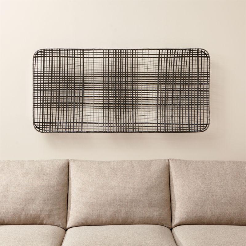 Tobacco Basket Metal Wall Art | Crate and Barrel