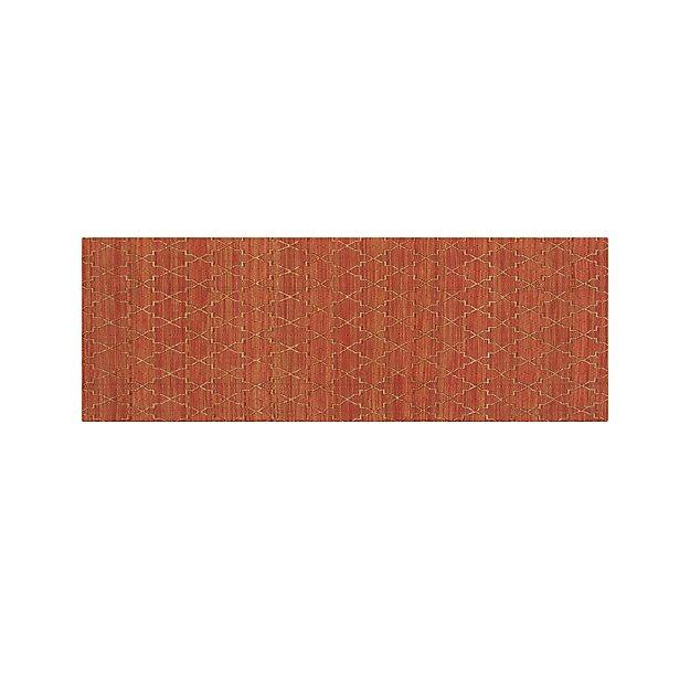 Tochi Coral Orange 2.5'x7' Rug Runner