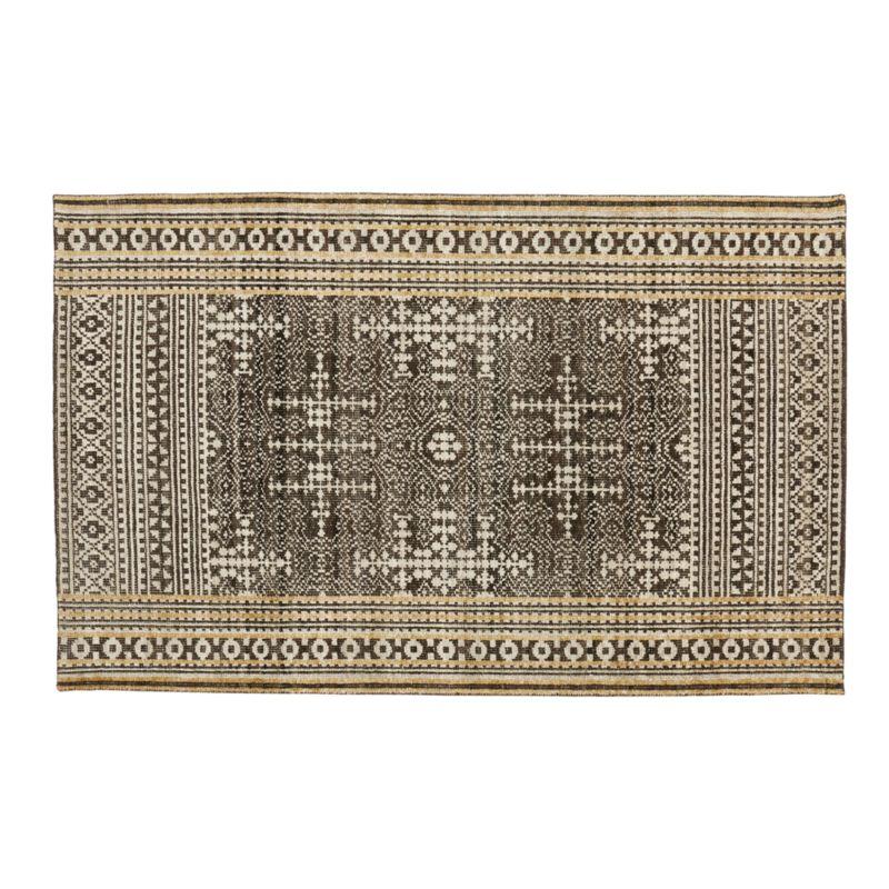 Tolliver Mocha Wool-Blend 5'x8' Rug