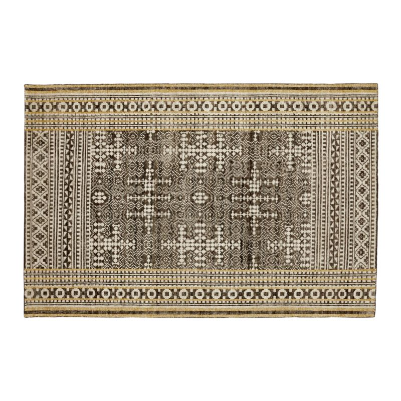 Tolliver Mocha Wool-Blend 6'x9' Rug