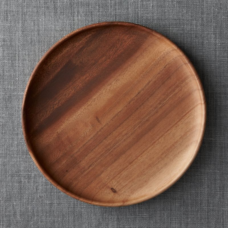 Tondo 12 Quot Round Wood Platter Crate And Barrel