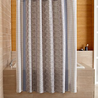 Torben Blue Shower Curtain
