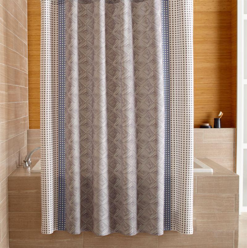 Torben Blue Shower Curtain