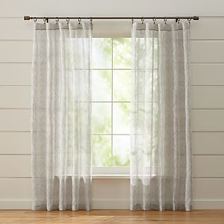 Torben Grey Sheer Curtains