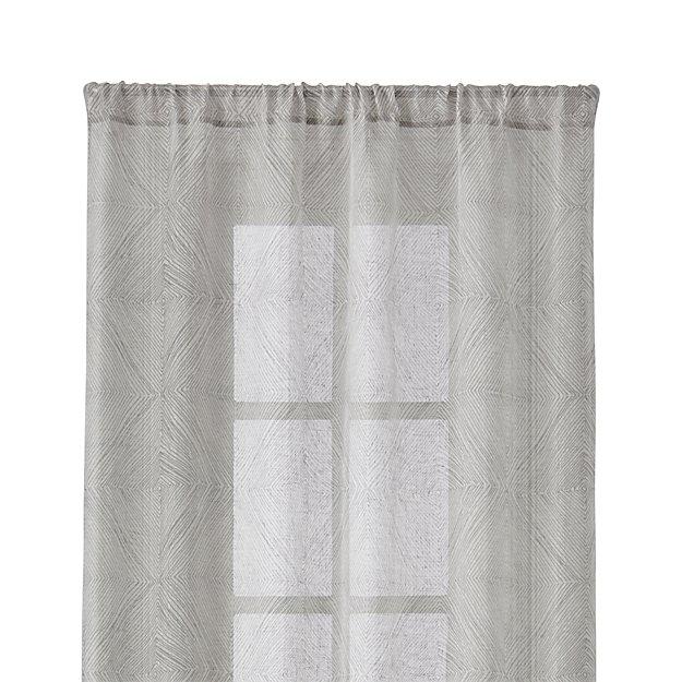 "Torben 48""x84"" Grey Sheer Curtain Panel"