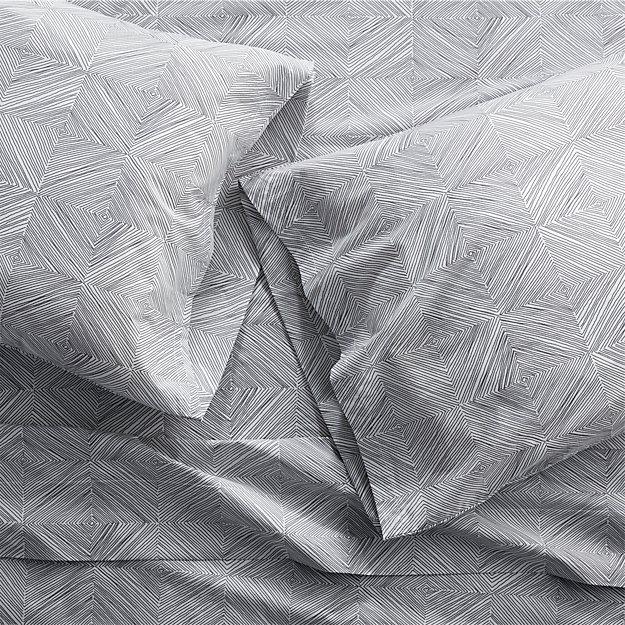 Set of 2 Torben Grey Standard Pillow Cases