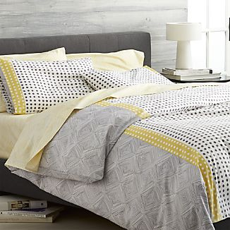 Torben Yellow Duvet Covers and Pillow Shams