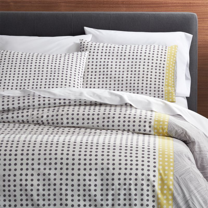 Torben yellow duvet covers and pillow shams crate and barrel for Crate barrel comforter