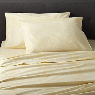 Torben Yellow Queen Sheet Set