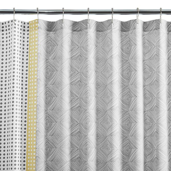 Torben Yellow Shower Curtain In Shower Curtains Rings Crate And Barrel