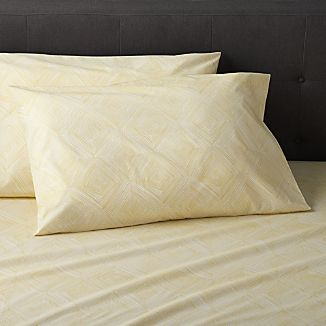 Set of 2 Torben Yellow Standard Pillow Cases