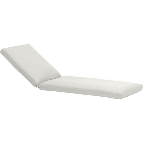Toulon Sunbrella ® White Sand Chaise Lounge Cushion