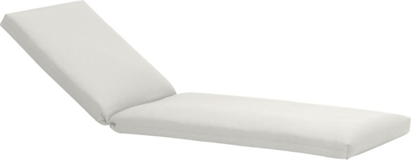 Add extra comfort to our Toulon chaise lounge with fade-, water- and mildew-resistant Sunbrella® acrylic cushions in warm white sand.<br /><br /><NEWTAG/><ul><li>Fade- and mildew-resistant Sunbrella® acrylic</li><li>100% polyester fill</li><li>Fabric tab fasteners</li><li>Cover or store inside during inclement weather</li><li>Spot clean</li><li>Made in USA</li></ul>