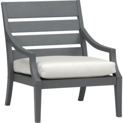 Toulon Lounge Chair with Sunbrella® White Sand Cushion