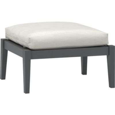 Toulon Ottoman with Sunbrella® White Sand Cushion