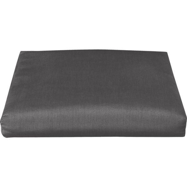 Toulon Sunbrella ® Charcoal Ottoman Cushion