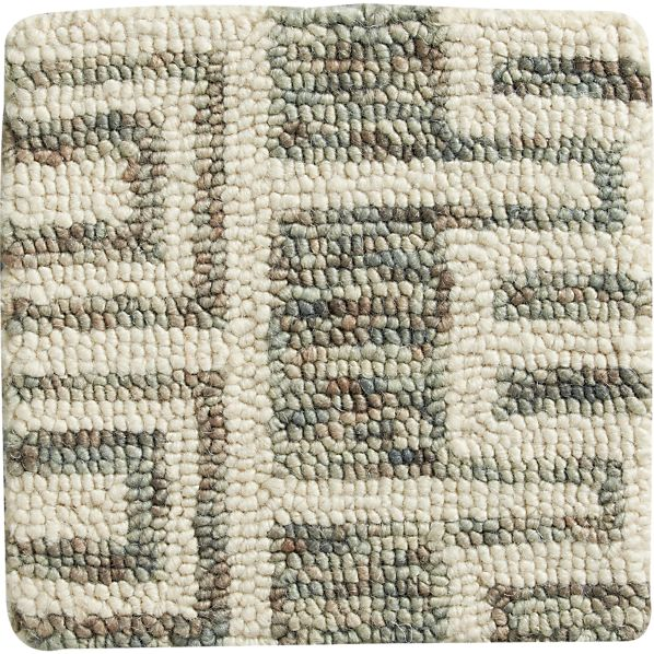 "Tower Netural Wool 12"" sq. Rug Swatch"