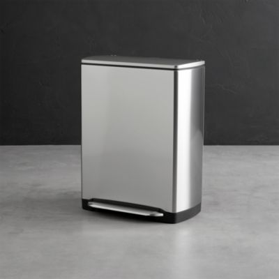 simplehuman�� 12-Gallon Stainless Steel Rectangular Recycle-Trash Can