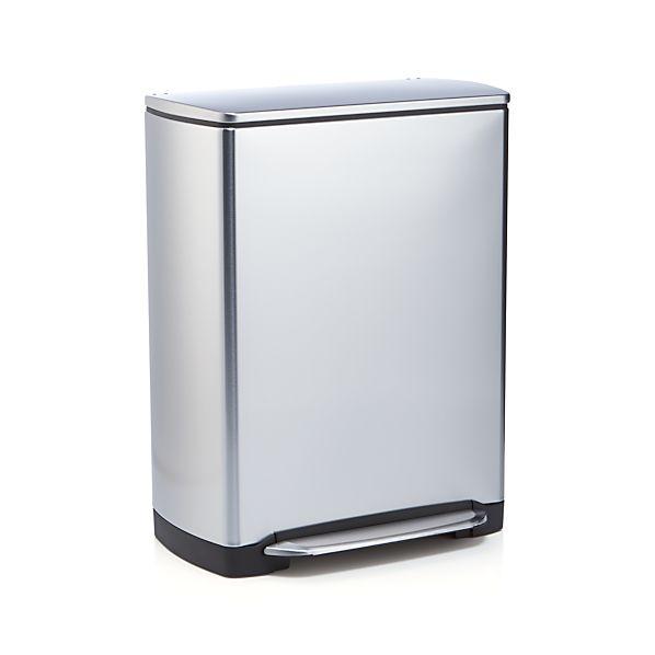Simplehuman 174 46 Liter 12 Gallon Stainless Steel Recycler