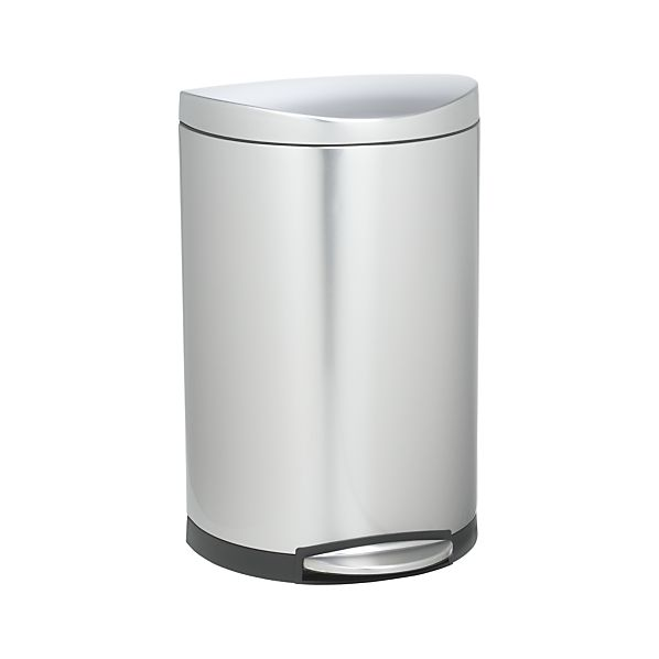 simplehuman ® 40-Liter/10.5-Gallon Deluxe Semi-Round Trash Can