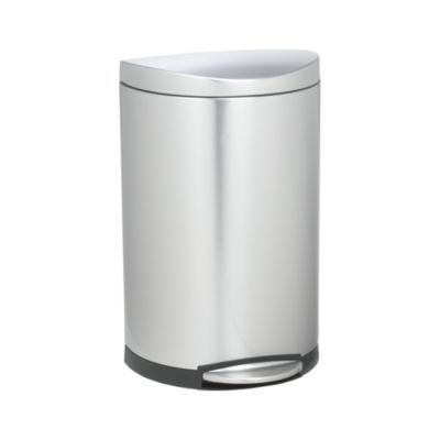 simplehuman® 10.5-Gallon Deluxe Semi-Round Trash Can