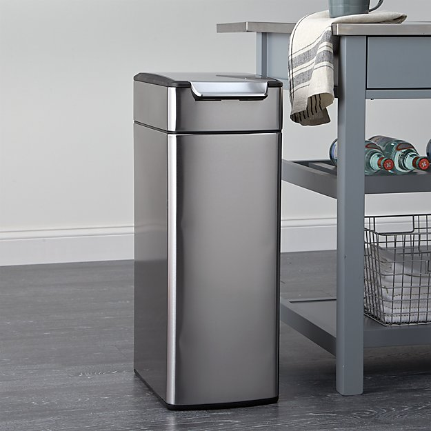 Kitchen Trashcan: Simplehuman ® 40-Liter/10.5-Gallon Slim Touch-Bar Trash