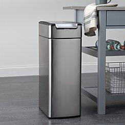 simplehuman ® 40-Liter/10.5-Gallon Slim Touch-Bar Trash Can