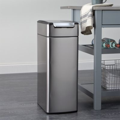 simplehuman�� 10.5-Gallon Slim Touch-Bar Trash Can