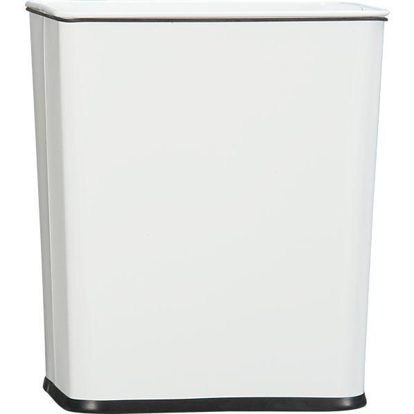 Trash Can 7-Gallon White with Bag Band