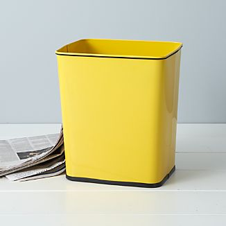 Polder ® Yellow 7-Gallon Under-Counter Steel Trash Can with Bag Band