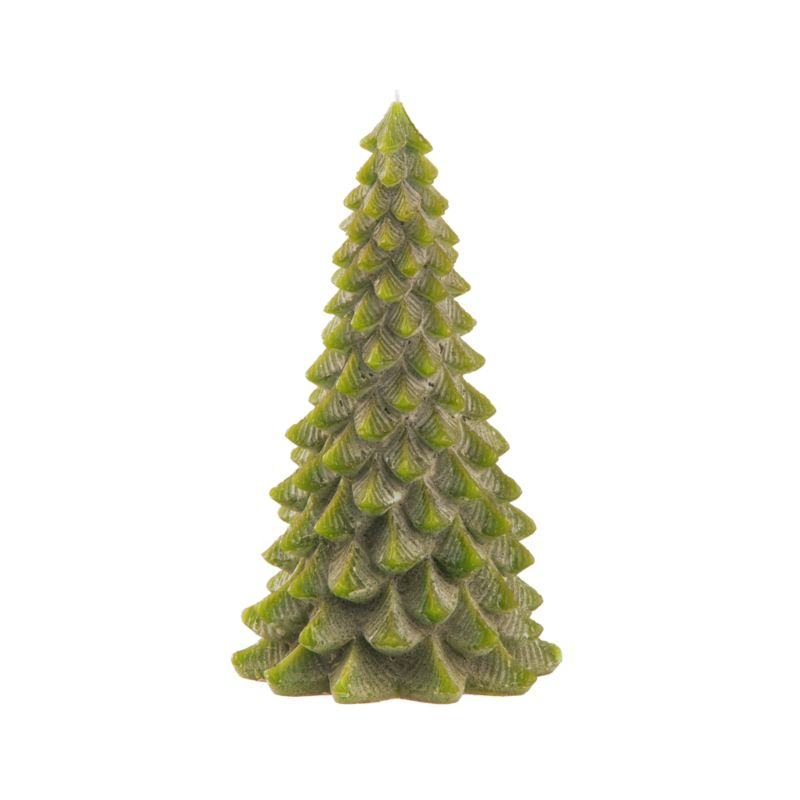 A classic holiday candle shows off beautiful shape and detailing. Each looks stately on its own. But you can also create your own evergreen forest, clustering pine tree candles together.<br /><br /><NEWTAG/><ul><li>100% paraffin wax</li><li>Unscented</li><li>Burn time: 12 hours</li><li>Made in Hong Kong</li></ul>