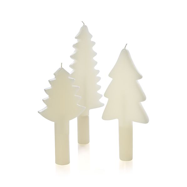 3-Piece Tree Taper Candle Set