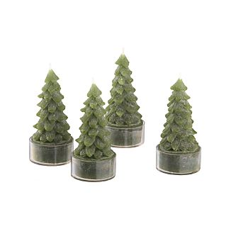 Tree Candles Set of 4