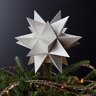 Moravian Silver Star Tree Topper