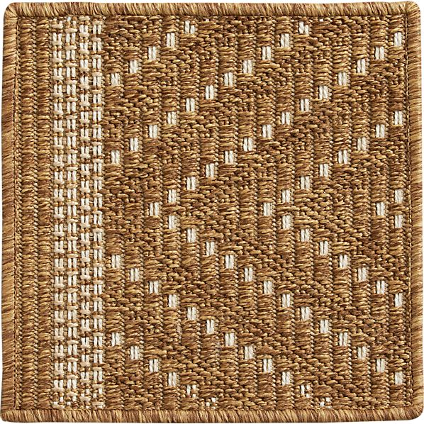 "Trellis Natural Indoor-Outdoor 12"" sq. Rug Swatch"