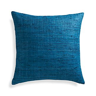 "Trevino Aegean Blue 20"" Pillow with Feather-Down Insert"