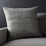 """Trevino Nickel Grey 20""""l Pillow with Feather-Down Insert"""