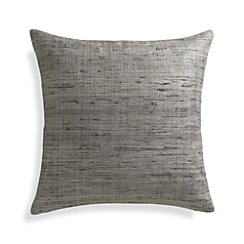 "Trevino Nickel Grey 20""l Pillow with Feather-Down Insert"