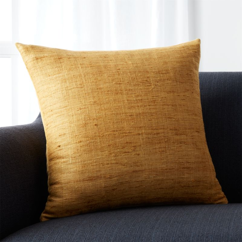 "Trevino Sunflower Yellow 20"" Pillow with Down-Alternative Insert"