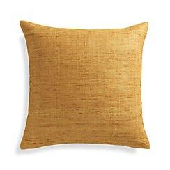 "Trevino Sunflower Yellow 20"" Pillow with Down-Alternative Insert"