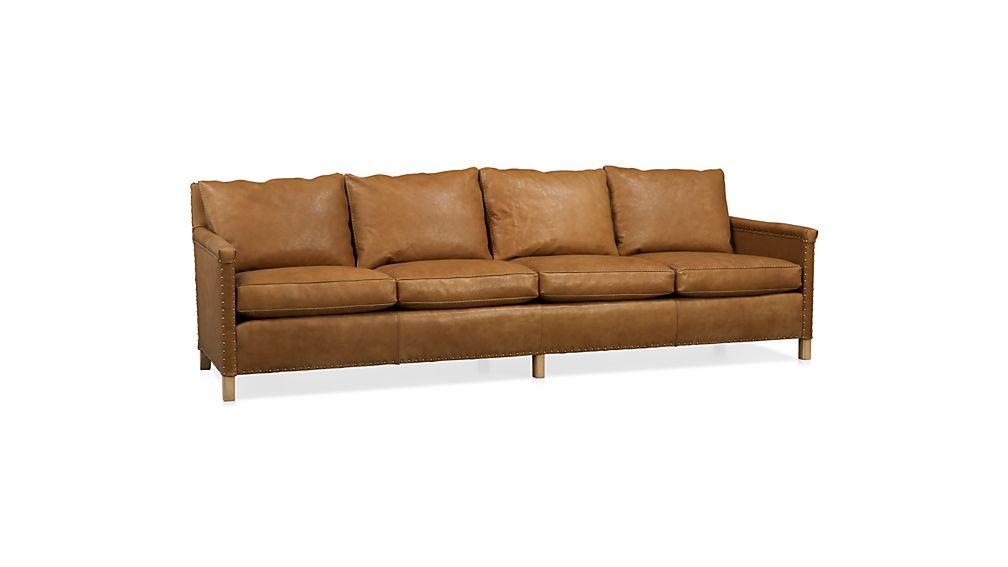 "Trevor Leather 106"" Sofa"