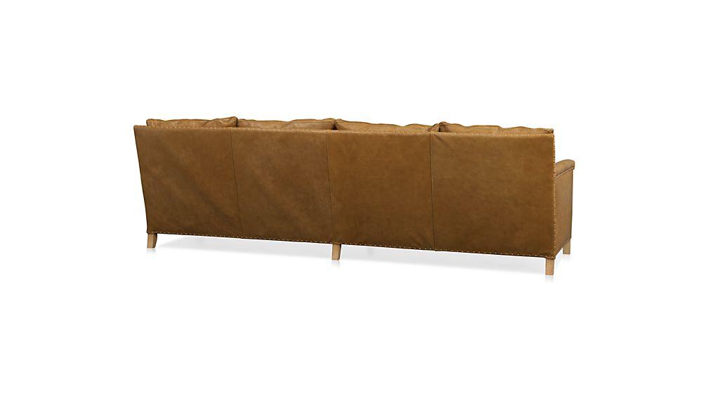 "Trevor Leather 4-Seat 106"" Grande Sofa"