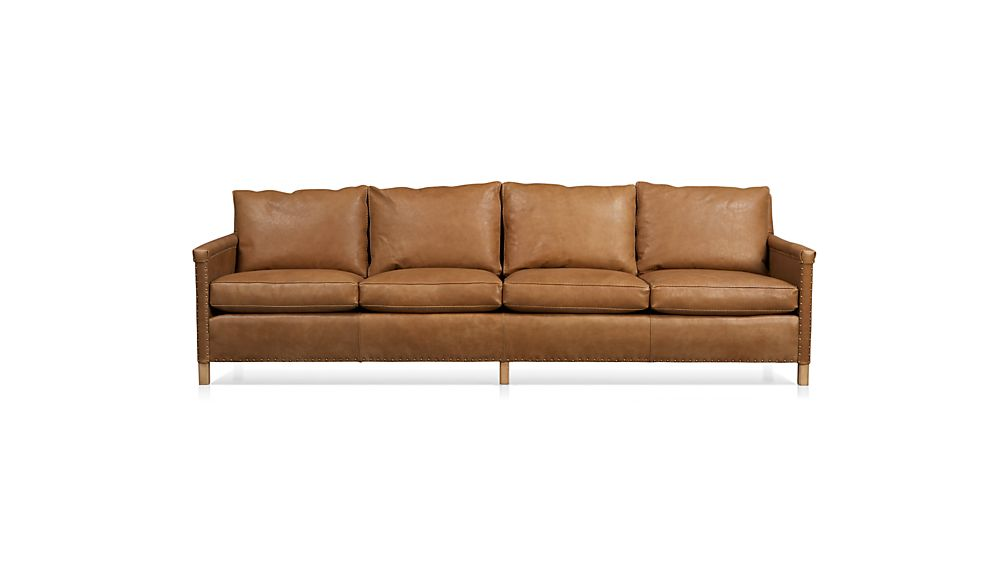 "Trevor Leather 4-Seat 106"" Grande Sofa"