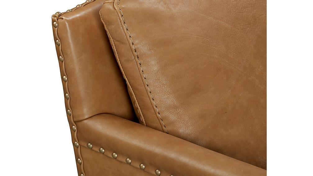 Trevor Leather Loveseat