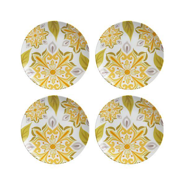Set of 4 Triana Yellow Plates