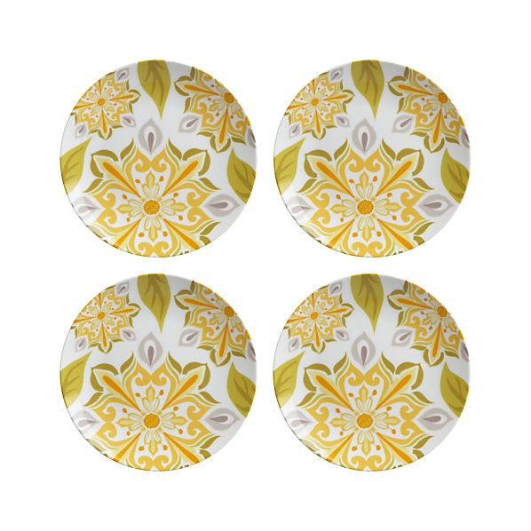 Set of 4 Triana Yellow Plates