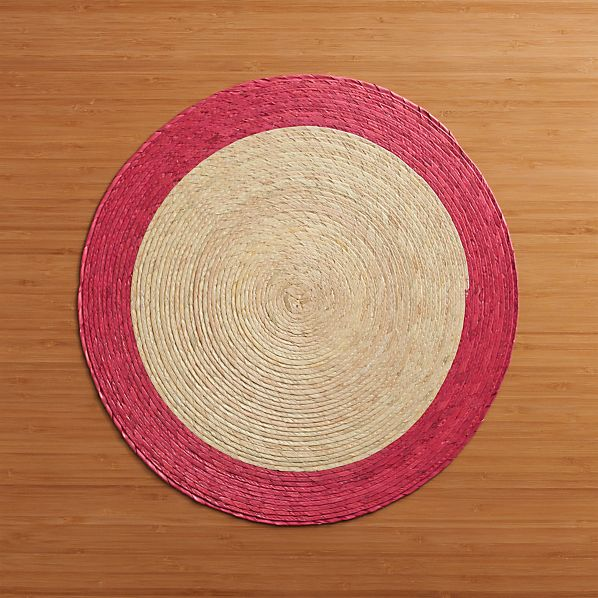 Tropic Palm Pink Trim Placemat