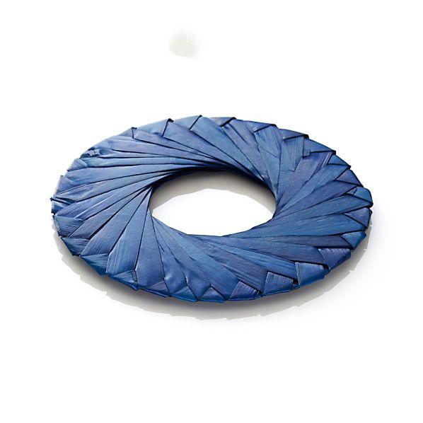 Tropic Palm Blue Napkin Ring