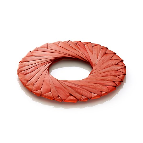 Tropic Palm Orange Napkin Ring
