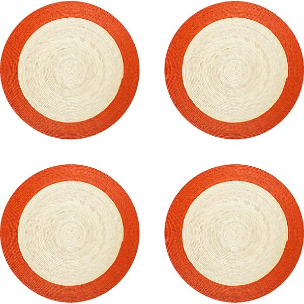 Set of 4 Tropic Palm Spice Trim Placemats